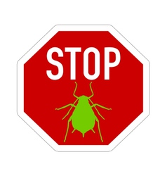 Aphid stop sign vector image