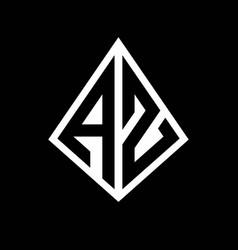 Az logo letters monogram with prisma shape design vector