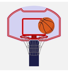Basketball backboard isolated vector image