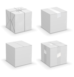 Boxes set vector image