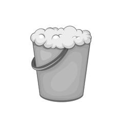 Bucket of foam icon black monochrome style vector image
