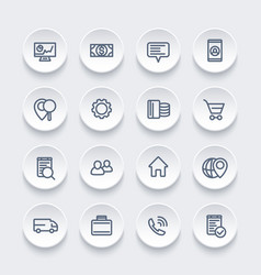 business finance and commerce line icons vector image