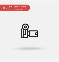camcorder simple icon symbol vector image