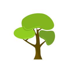 cartoon style custom leaves isolated tree plant vector image