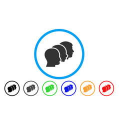 Client profiles rounded icon vector
