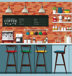 Coffee bar design vector