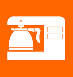 Coffeemaker coffee machine white icon vector