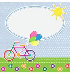 Colorful bike vector