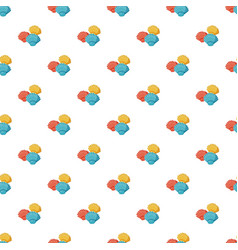Colorful seashells pattern vector