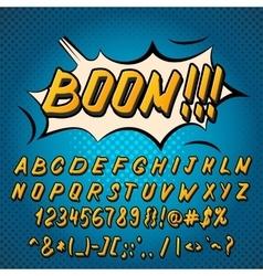 Comics style alphabet vector