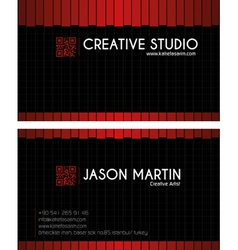 Creative red business card vector image