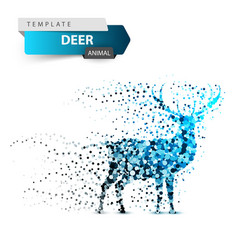 Deer dot on the white background vector