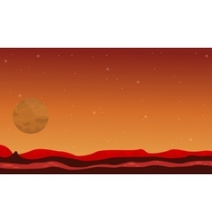Desert and planet space landscape vector image