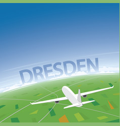 Dresden flight destination vector