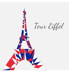 Eiffel tower in low poly vector image