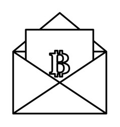 Envelope with bitcoin symbol vector
