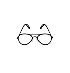 eyeglasses hand drawn sketch icon vector image