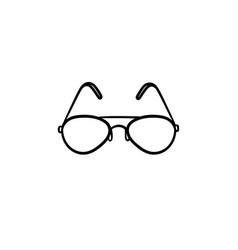 eyeglasses hand drawn sketch icon vector image