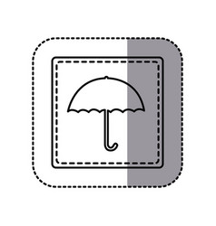figure emblem umbrella icon vector image