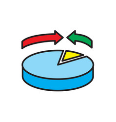 finance statisticks icon on white background for vector image