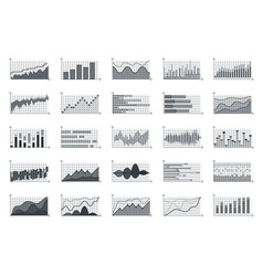 financial market information graphs business vector image