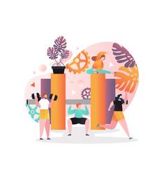fitness gym concept for web banner website vector image