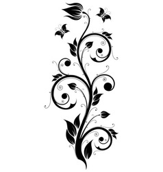 Floral Design Ornament vector image