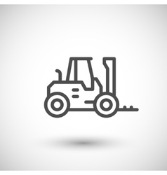 Forklift loader line icon vector