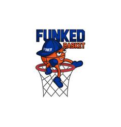 funked ball mascot vector image