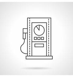 Gas station line flat line design icon vector