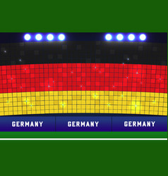 Germany soccer or football stadium background vector