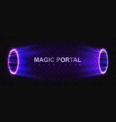 Glowing magic portals vector