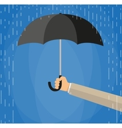 Hand of man holding an umbrella vector image vector image