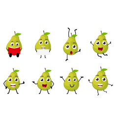 happy pear cartoon character vector image