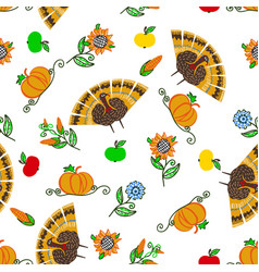 harvesting seamless pattern vector image