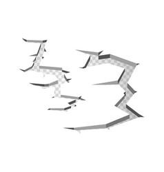 hole on transparent background broken ground vector image