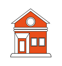 House facade flat vector