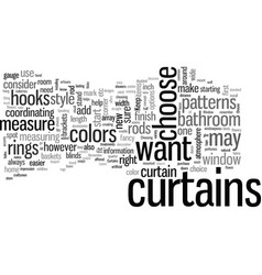 How to choose curtains and bathroom accessories vector