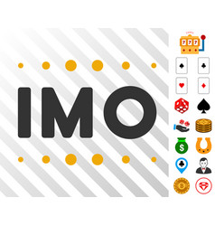 Imo caption icon with bonus vector