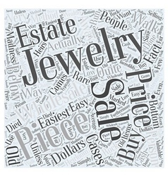 Jewelry wholesale and estate sales Word Cloud vector
