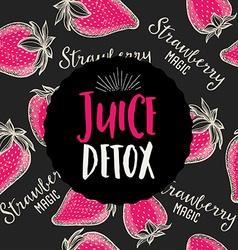 Juice banner design restaurant template vector image