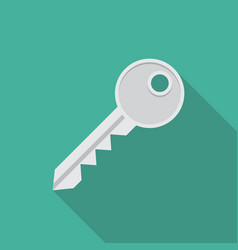 Key icon in flat style vector