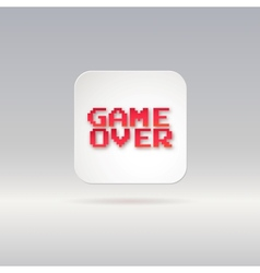Lettering game over icon vector image