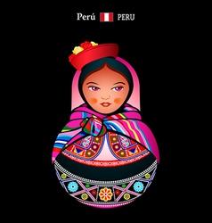 Matryoshka Peru vector