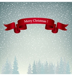 Merry Christmas Landscape in Gray Shades vector