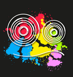 modern style abstraction with composition vector image