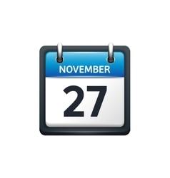 November 27 calendar icon vector