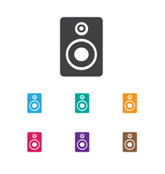 of melody symbol on sound vector image
