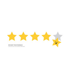 positive feedback concept five star rating vector image