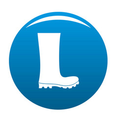 rubber boots icon blue vector image